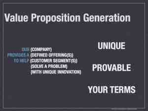Value Proposition Generation